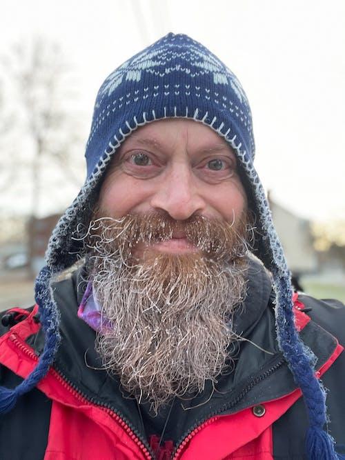 Free stock photo of beard, bearded man, blue hat