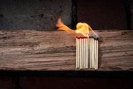 wood, fire, hot