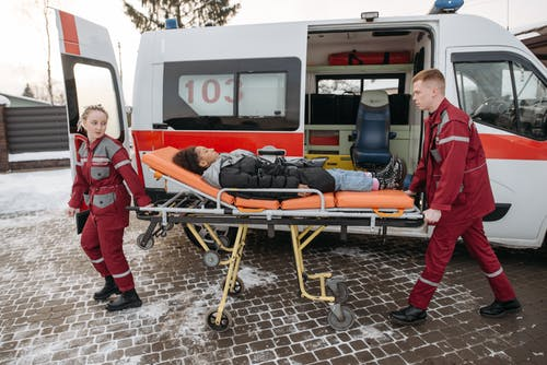 Woman On A Stretcher