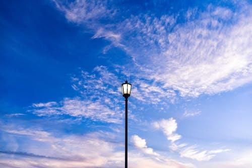 Imagine de stoc gratuită din albastru, centrat, cer, felinar