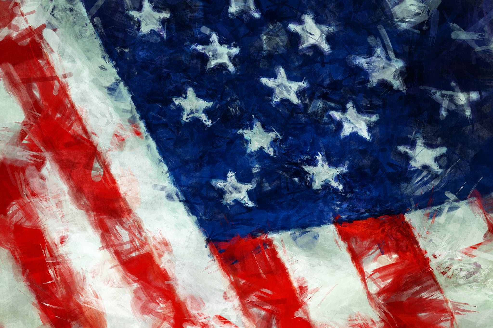 Free stock photo of abstract, flag, usa, paint
