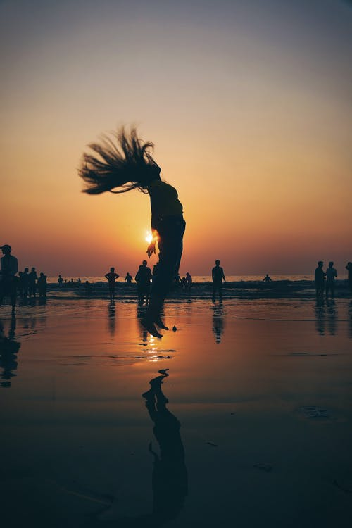 Free stock photo of beach, beach girl, beach jump