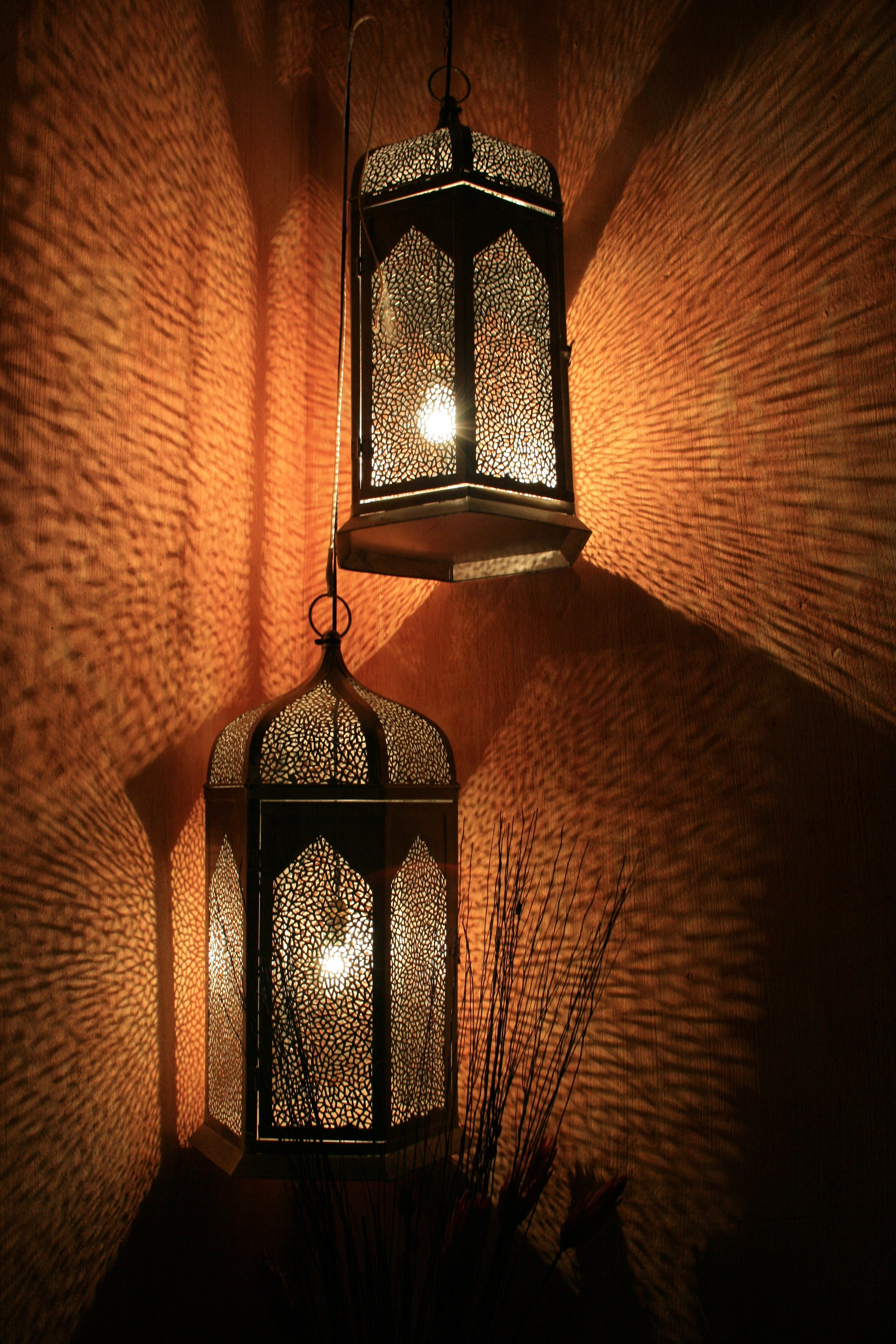 Black and Brown Lamp