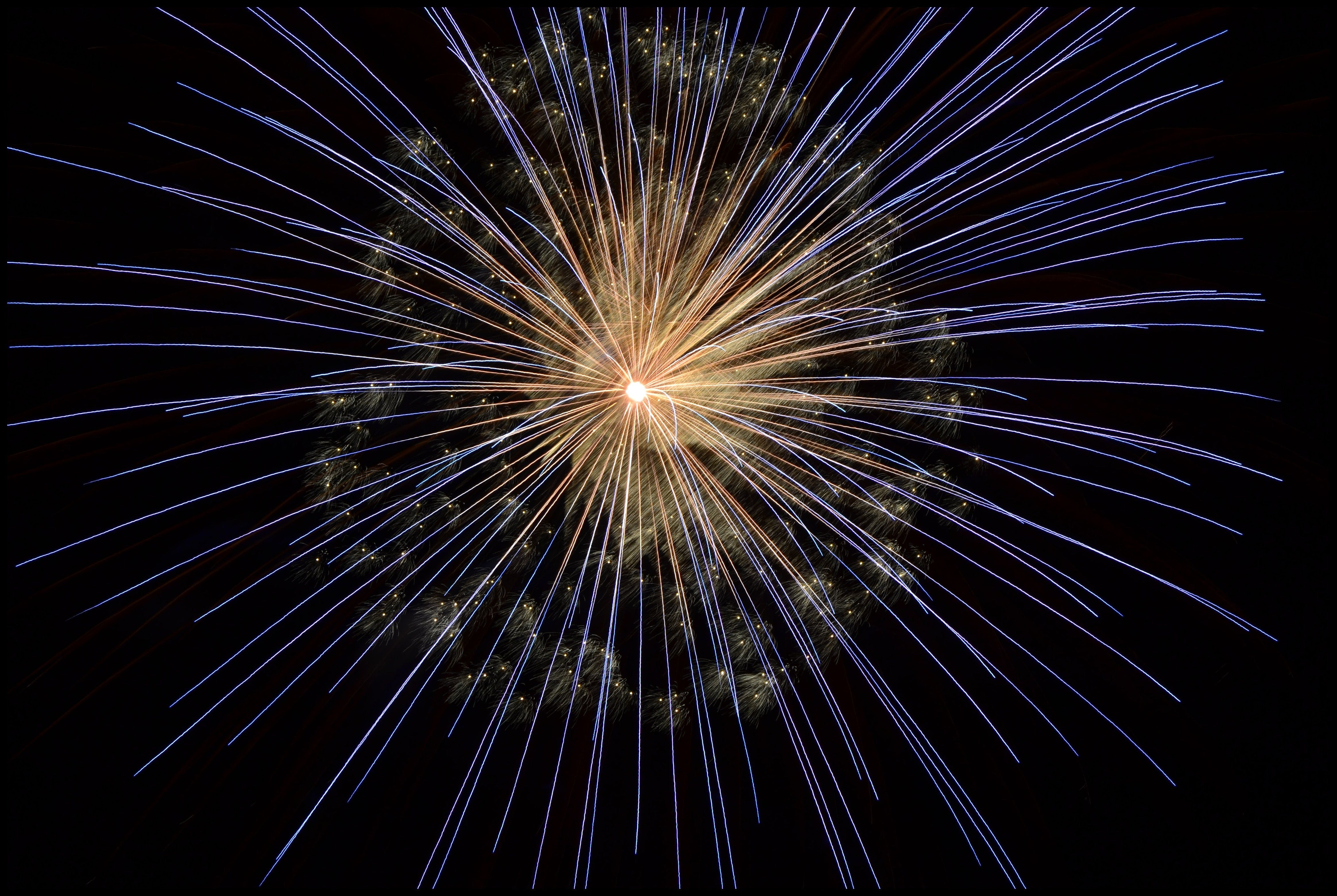 Yellow Blue Fireworks