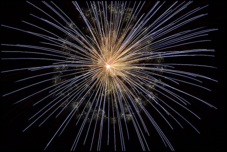 Yellow Blue Fireworks