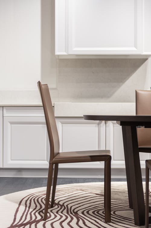 Table with chair in kitchen