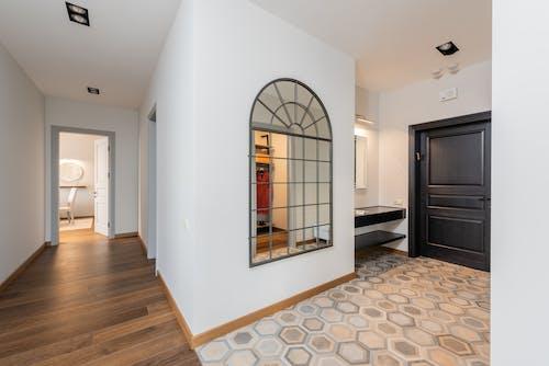 Interior of corridor in light apartment