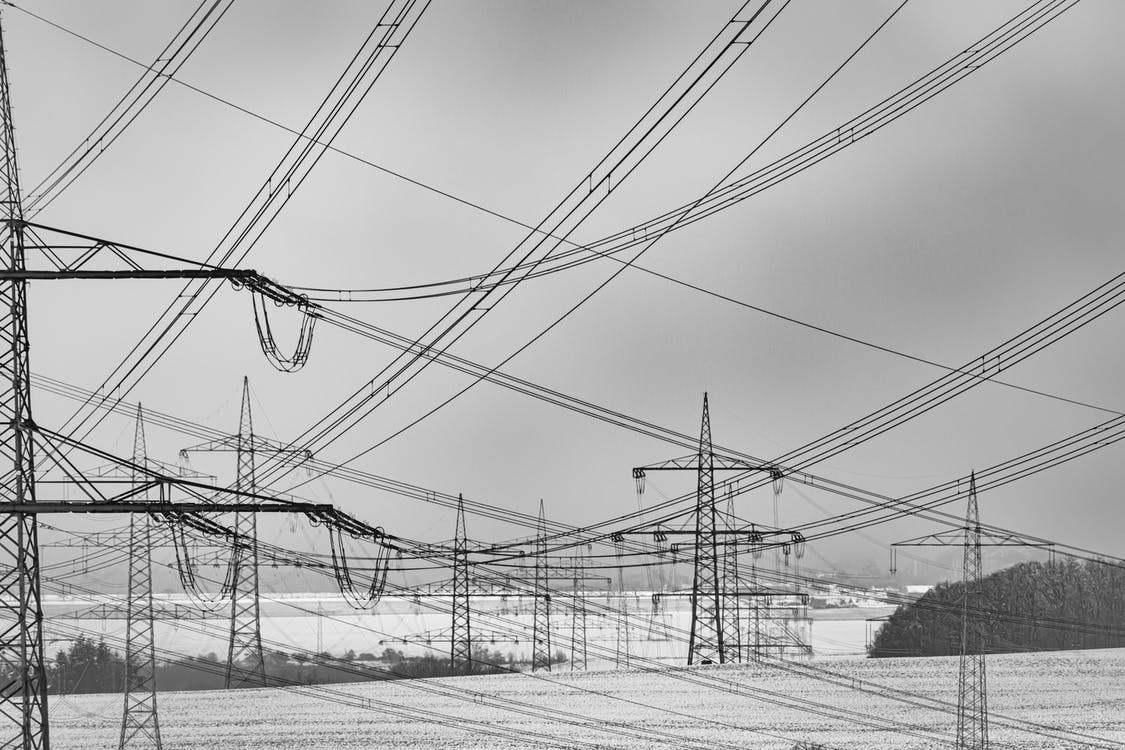 Free stock photo of black-and-white, electric lines, electricity