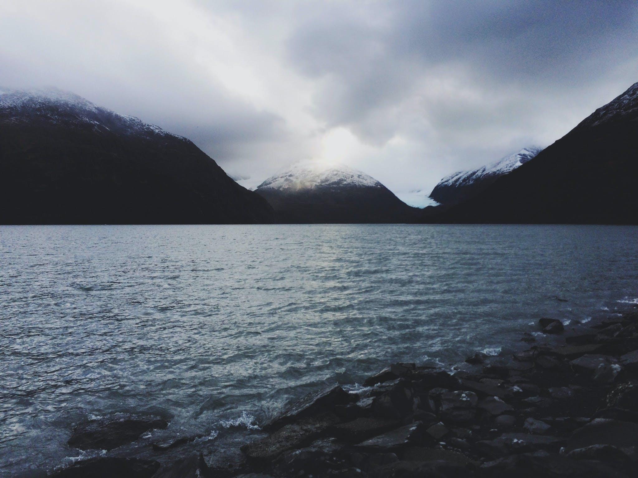 dark, gloomy, lake