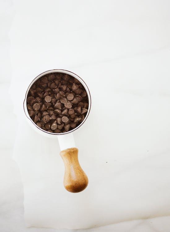 chokolade, chokolade chips, close-up