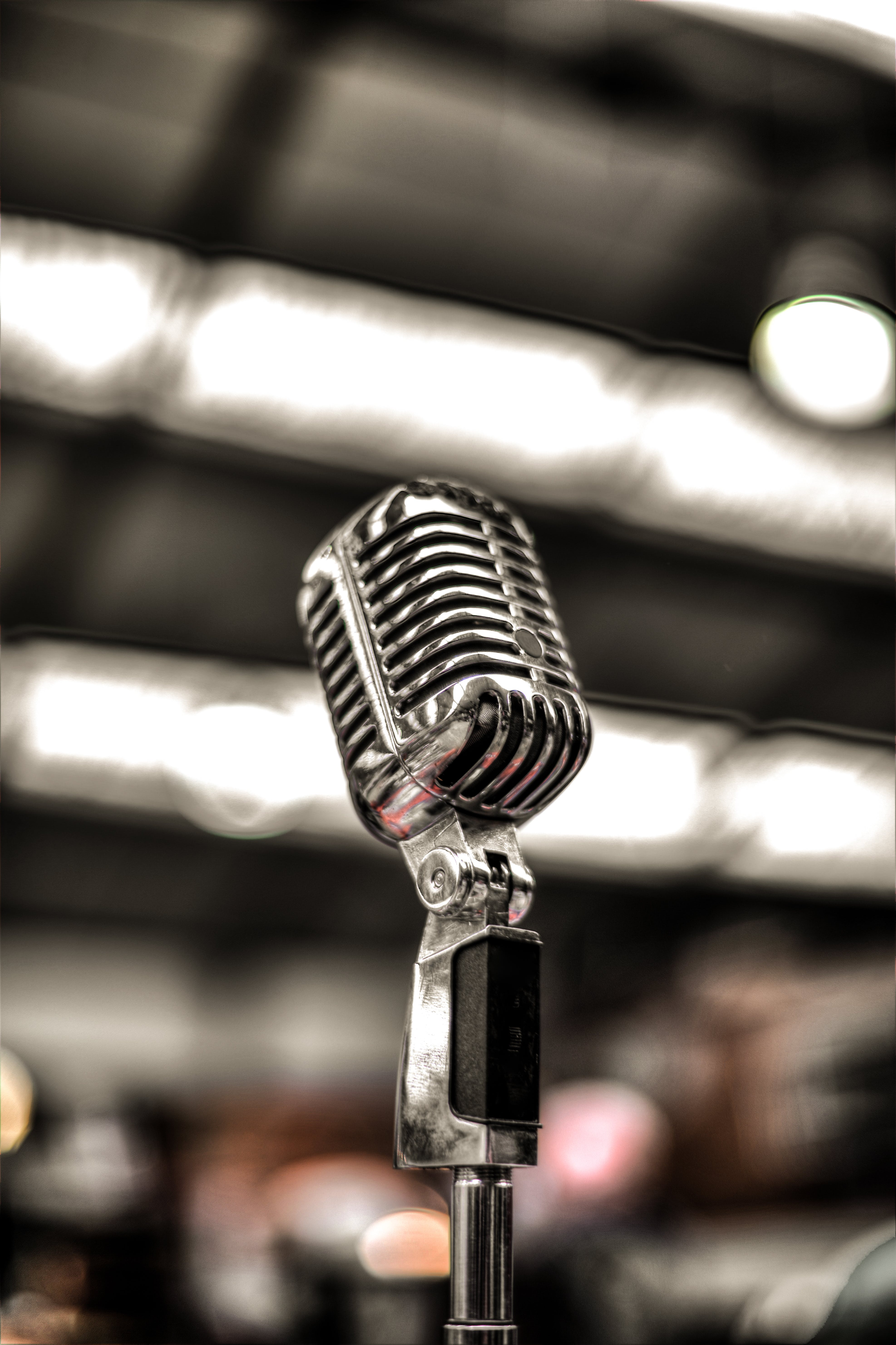 Silver-colored Microphone