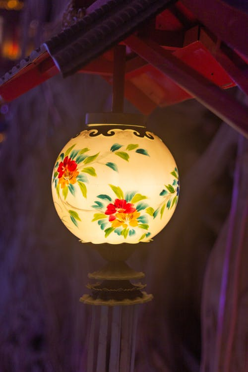 Lighted Floral Pendant Lamp