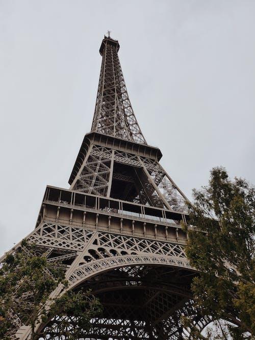 Eiffel Tower in Low Angel Shot