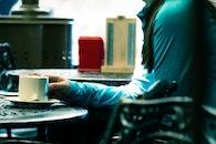 light, person, coffee
