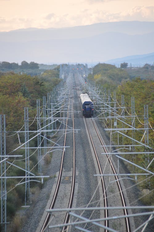 Free stock photo of train left