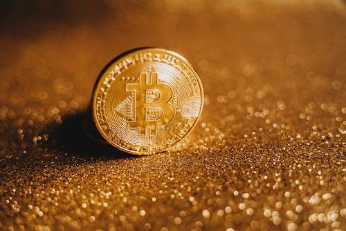 Close-Up Shot of a Bitcoin