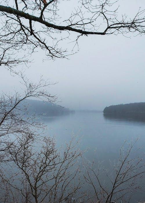 不機嫌そうな水, 冬の季節, 湖の無料の写真素材