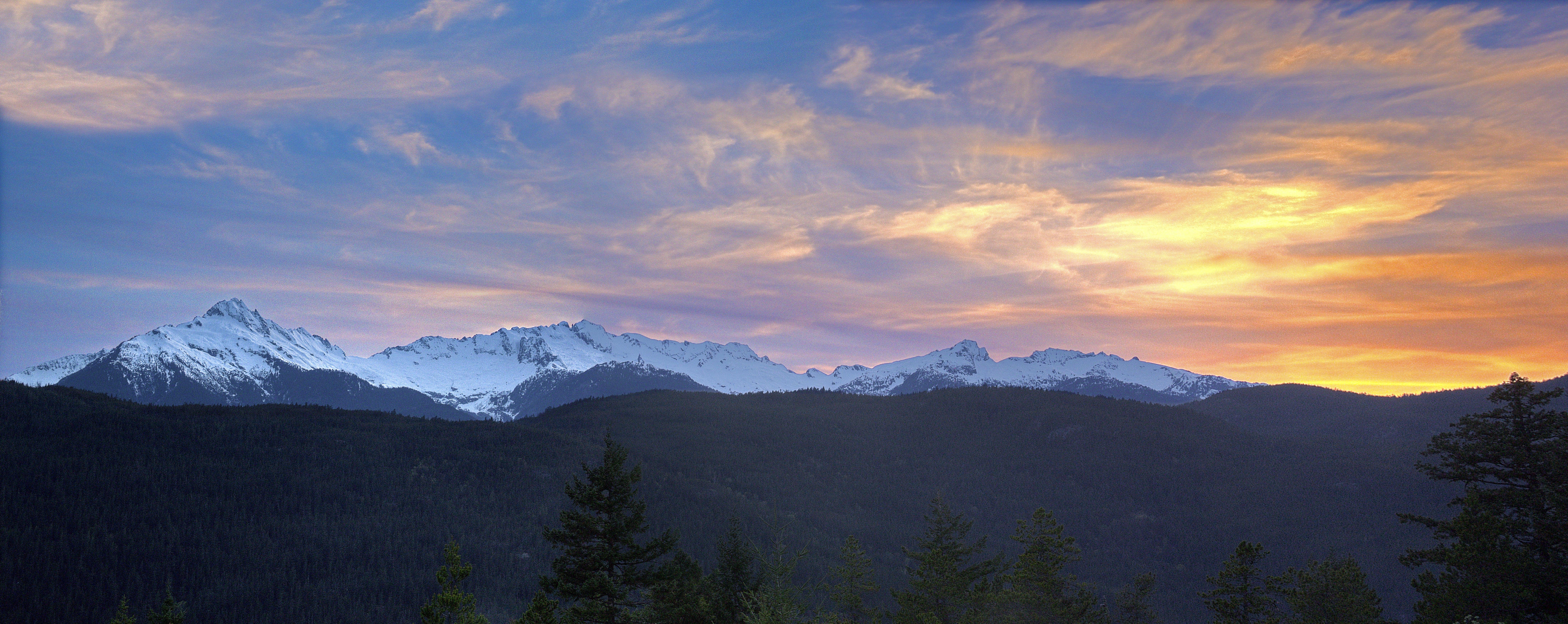 Snowcap Mountain Panorama