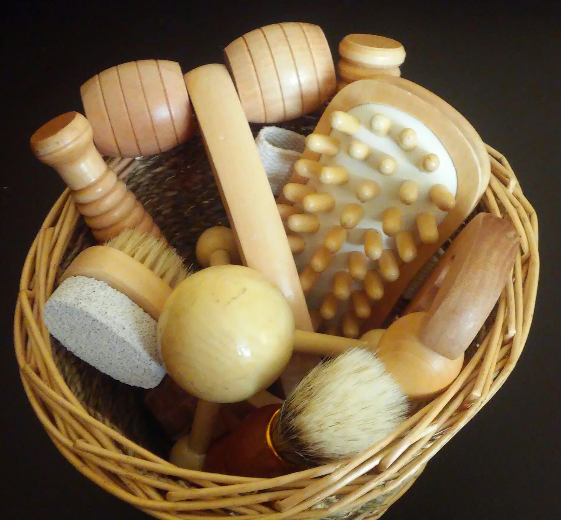 Kostenloses Stock Foto zu werkzeuge, massage, massage-set, massage-tools