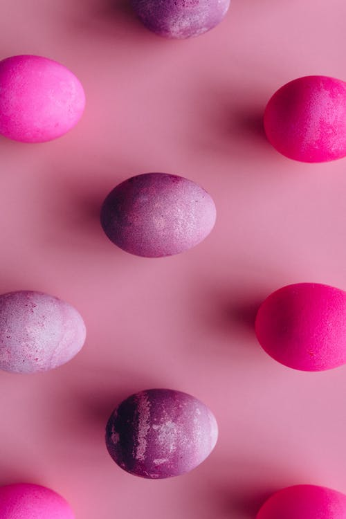Pink and White Polka Dot Textile