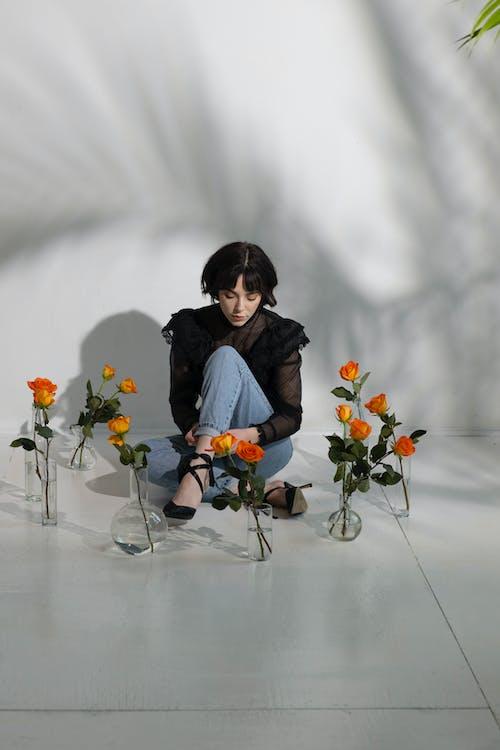 Základová fotografie zdarma na téma brunetka, dáma, dekorativní