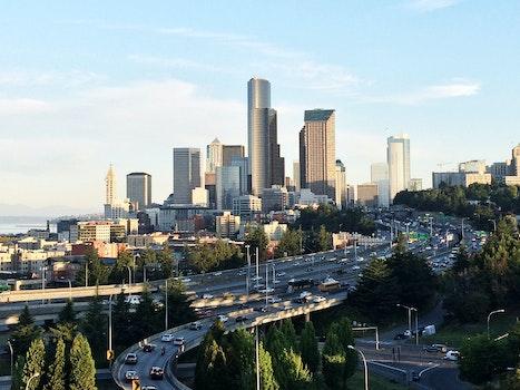 Free stock photo of city, cars, traffic, skyline