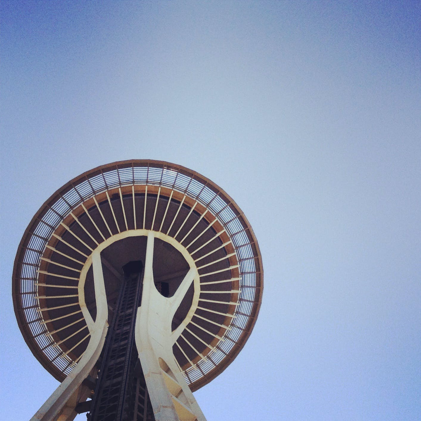 Gray and White Space Needle