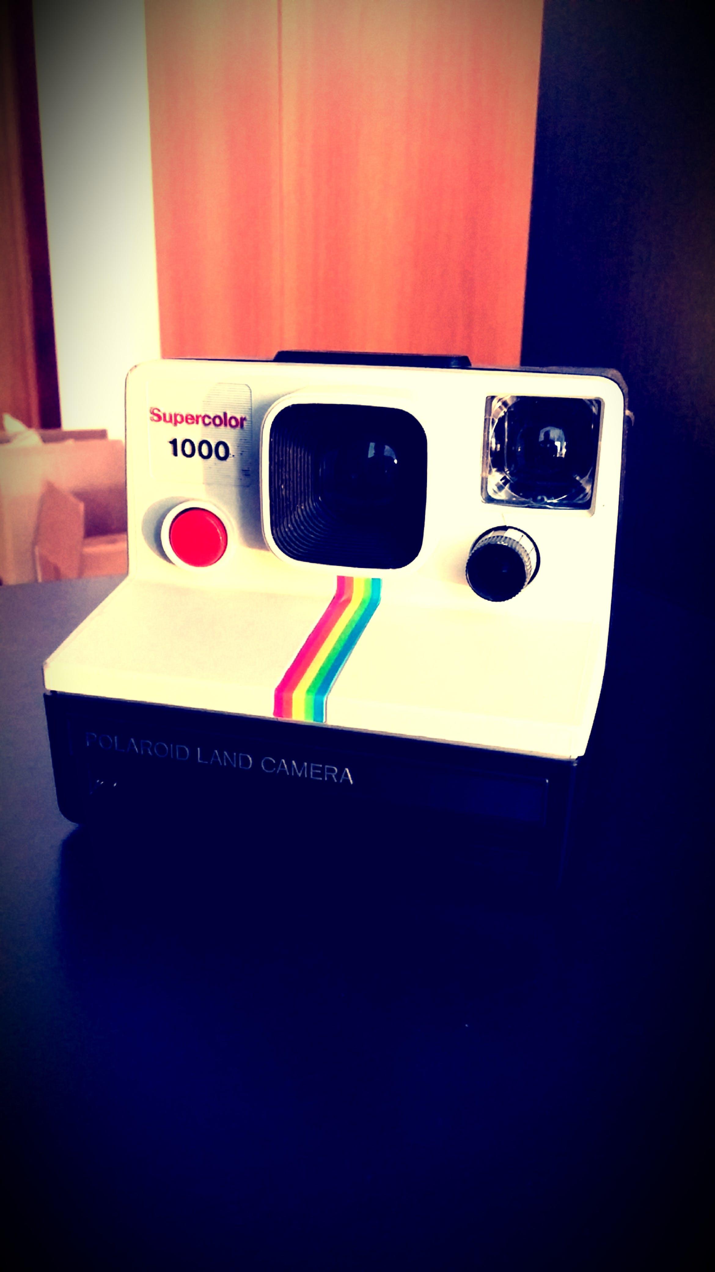 White and Black Polaroid  Camera