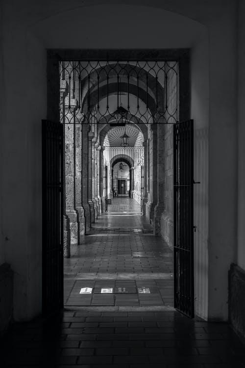 Darmowe zdjęcie z galerii z architektura, czarno-biały, meksyk