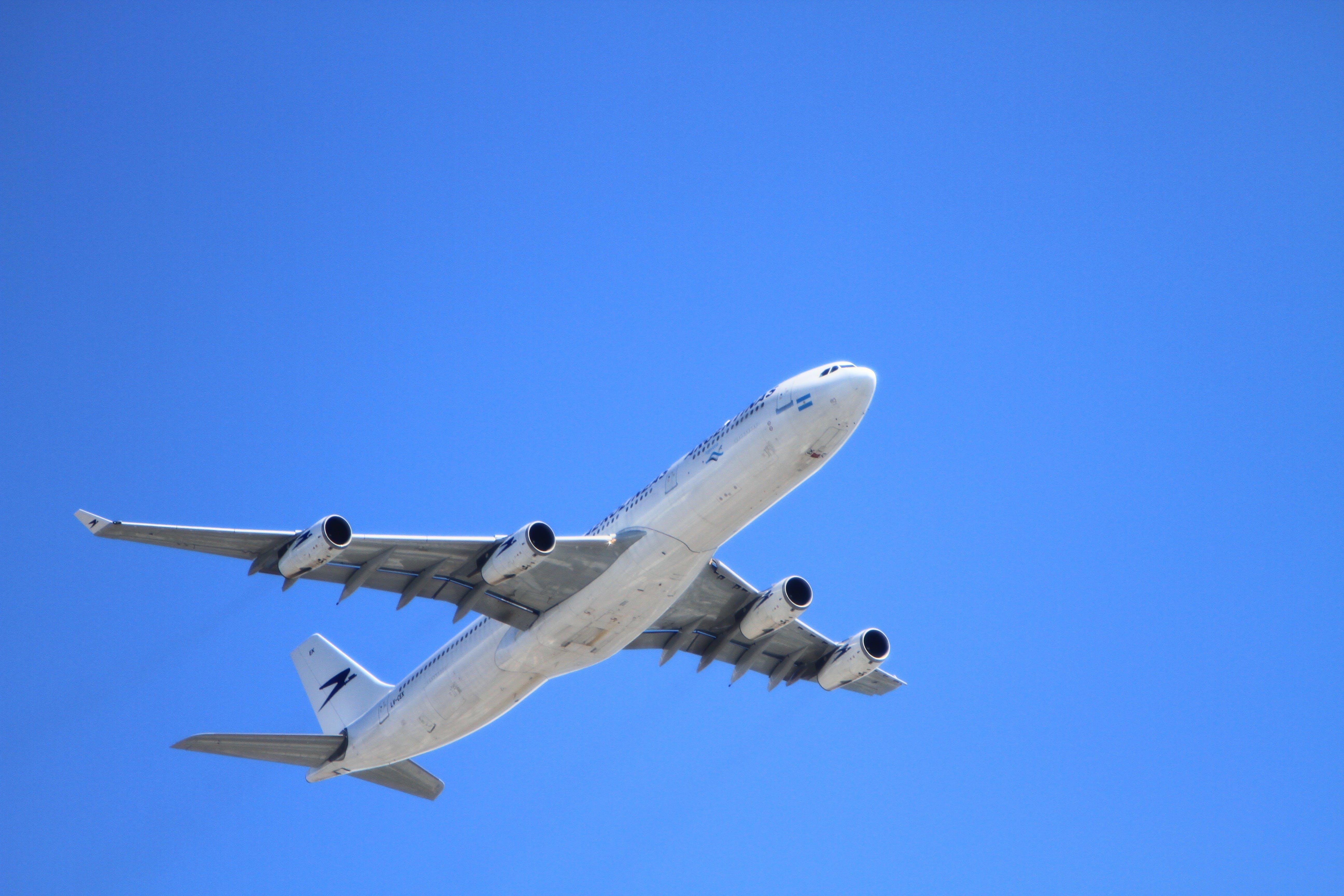 White Passenger Plane Flying on Sky during Day Time