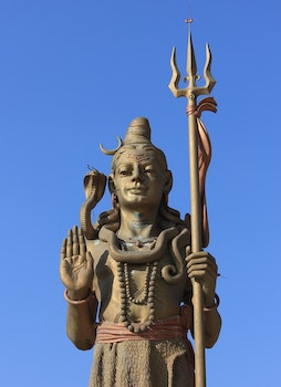 Free stock photo of statue, blue sky, sculpture, religion