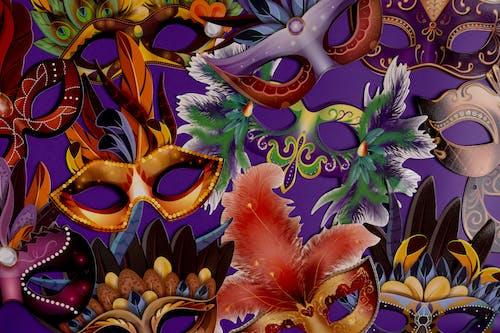 Mardi Gras Masks Background
