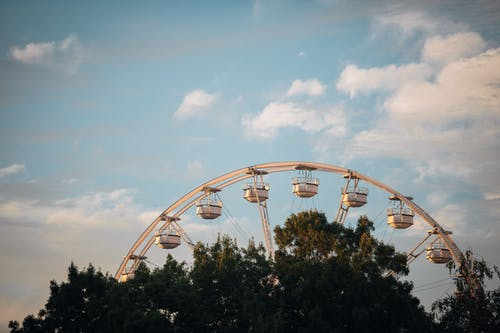 A White Ferris Wheel