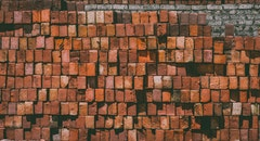 red, bricks, pattern