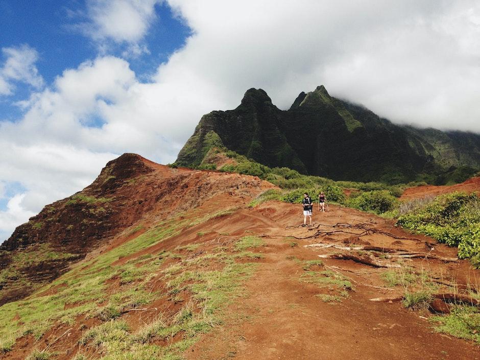 adventure, clouds, hiking