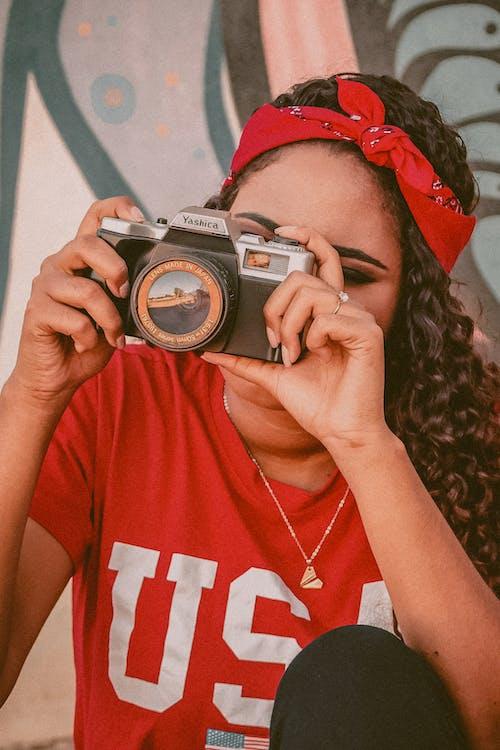 analog kamera, aygıt, cihaz içeren Ücretsiz stok fotoğraf