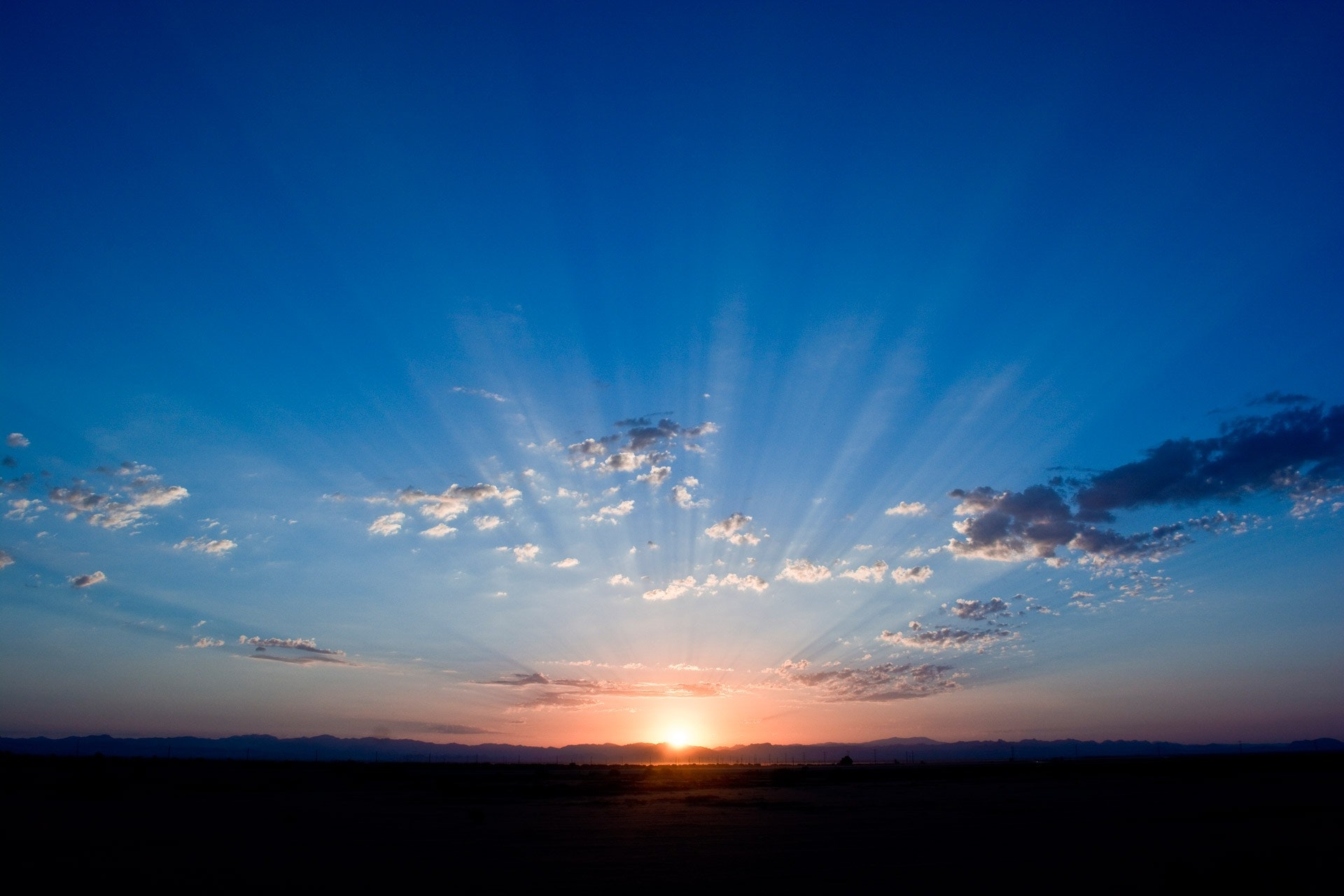 Sunrise Under Cloudy Sky Illustration · Free Stock Photo