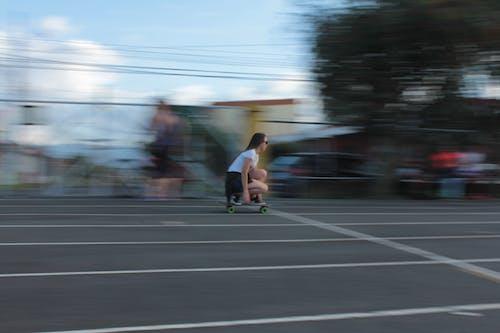 Free stock photo of movement, skateboard, skateboarder