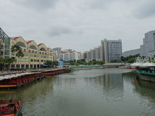 Free stock photo of boats, buildings, singapore river