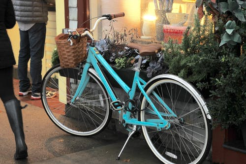 Free stock photo of Blue bike, bycicle, turquoise bicycle