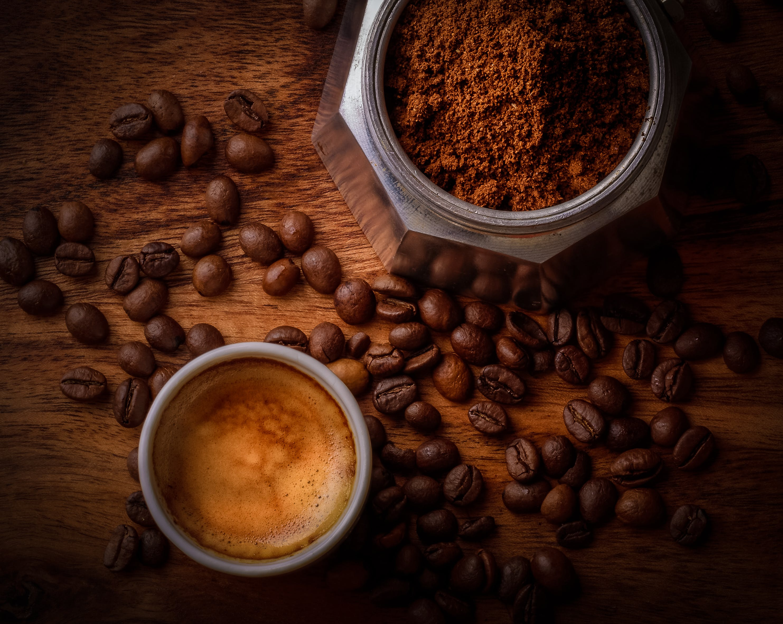 arabica, aromatisch, aufsicht