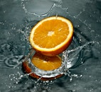 food, water, orange
