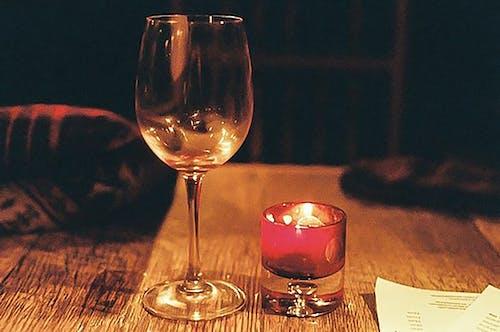 Immagine gratuita di 35mm, bicchiere di vino, candela, fotografia cinematografica