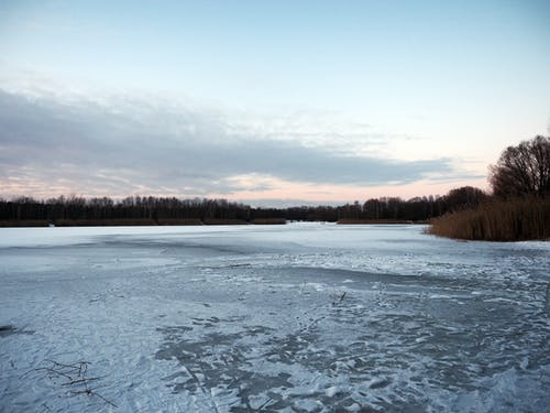 Free stock photo of dawn, ice, lake