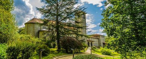 Free stock photo of Abbaye de Tournay, fleurs, gazon, la nature