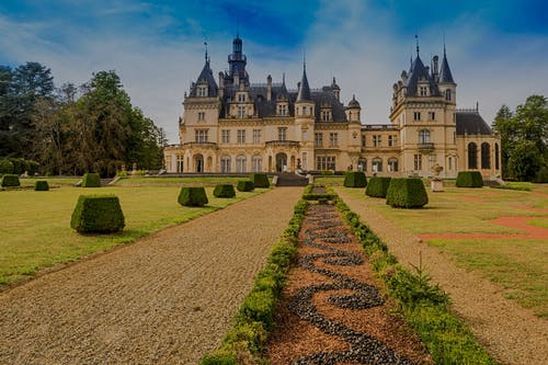 Free stock photo of buis, Buisson, chateau, gazon