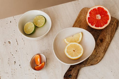 A Variety Of Citrus Fruits