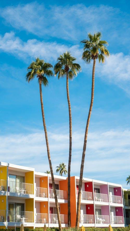 Free stock photo of architecture, beach, blue sky