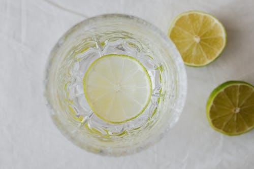 Lime Lemonade In Crystal Glass