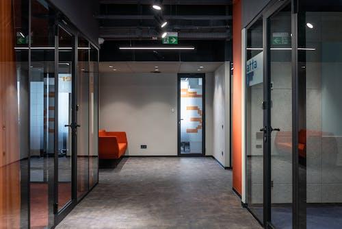 Interior of modern office center corridor